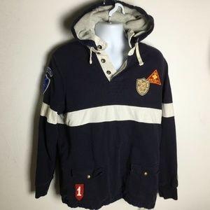 Polo Ralph Lauren Ski Patrol Hooded Rugby Shirt L